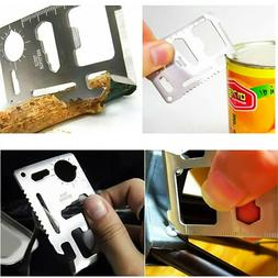 11 in 1 Multi Tool Pocket Card Hunting Survival Camping Knif