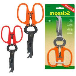 12 In 1 Camping Scissors Stainless Steel Multi Tool Shears C