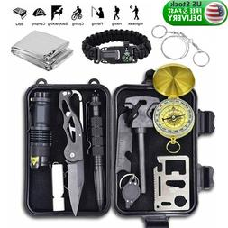 12in1 Survival Kit Camping Hunting Tactical Multitool Outdoo