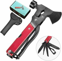 14 in 1 Stainless Steel Hammer Axe Multitool for Camping Sur