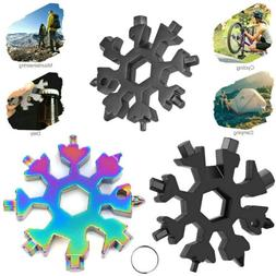 18 In 1 DIY Stainless Multi-Tool Portable Snowflake Shape Ke