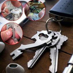 20-in-1 Key Chain Stainless Keychain Keyring Pocket Bottle O