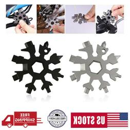 20-in-1 Snowflake Tool Portable Multi-tool Combination Compa