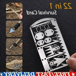 22 in 1 Multi Tool Camping Survival Card EDC Wilderness Gear