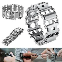 29in1 Multi-Tool Stainless Steel Bracelet for Outdoor Campin