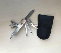 Metall Multitools Knife With Case corkscrew Bottle Opener