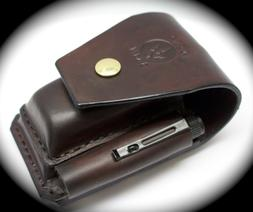 Heavy duty leather case sheath pouch FOR leatherman multitoo