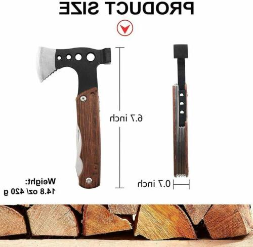 12 1 Portable Multitool Hatchet Camping Survival with