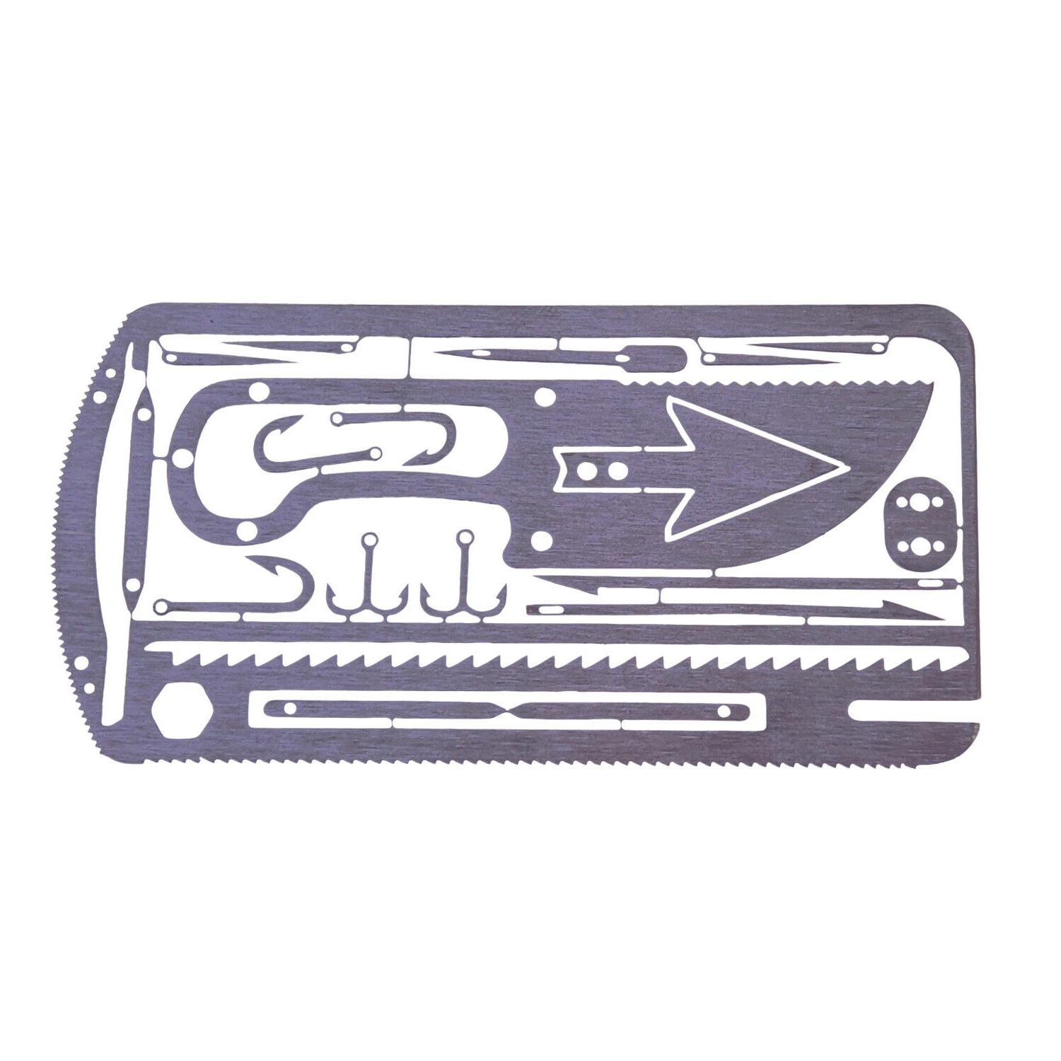 20 in 1 fishing multitool survival card