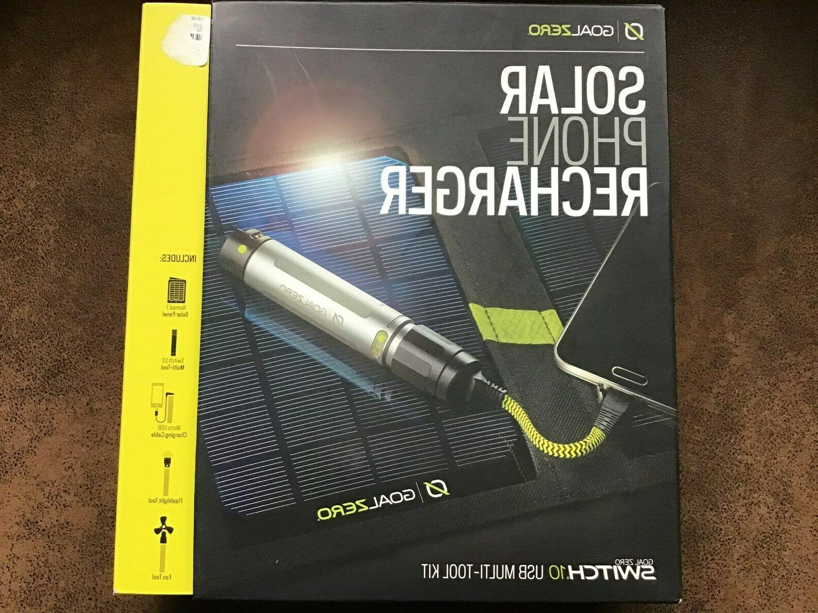 nomad 7 solar phone recharger with switch