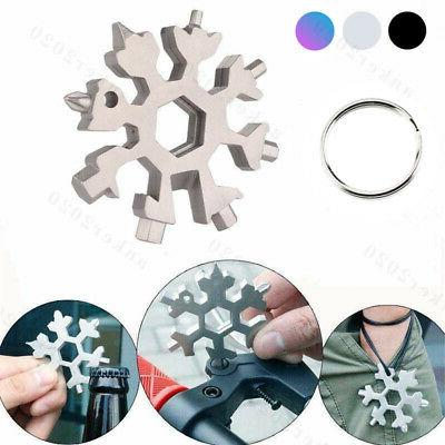 Stainless Tool Snowflake Key Chain Screwdriver-18 1