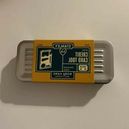 STANLEY MULTI-FUNCTION CREDIT CARD TOOL - BRAND NEW STAINLES