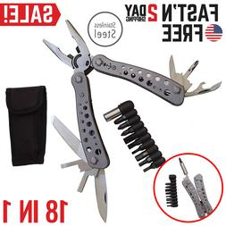 Multi Tool Pocket Pliers Saw Knife Kit Survival Camping Hunt