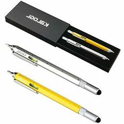 Multitool Pen 2 Pack Stylus 9-in-1 Combo Functions As Touchs