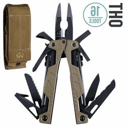 LEATHERMAN - OHT Multitool, Coyote Tan with MOLLE Brown Shea