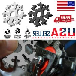 20 In 1 Multi Tool Stainless Tool Snowflake Shape Key Chain