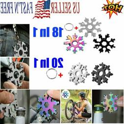 Stainless Tool Snowflake Shape Key Chain Screwdriver-Multi T