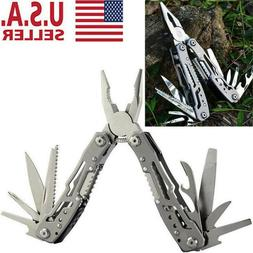 Survival Plier Fold Pocket Screwdriver Multi Tool Camping Ou