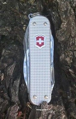 Victorinox Swiss Army MiniChamp Pocket Knife, Silver Alox
