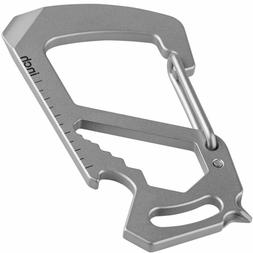 TITANIUM Multi-Tool Keychain Carabiner- Strong, Lightweight